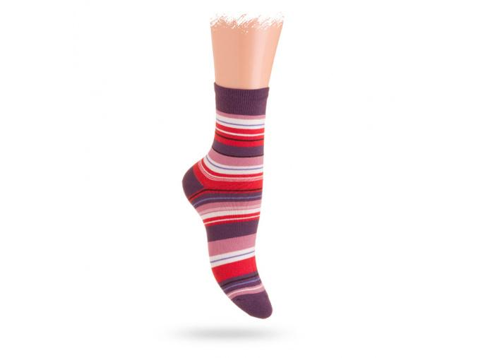Wola vzorované ponožky PROUŽKY