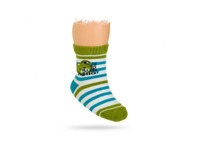Kojenecké ponožky vzor MÉĎA