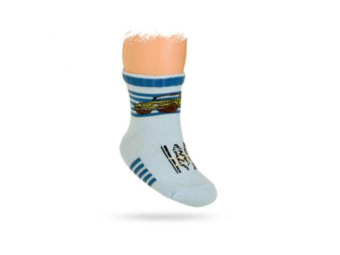 Kojenecké ponožky vzor AUTO