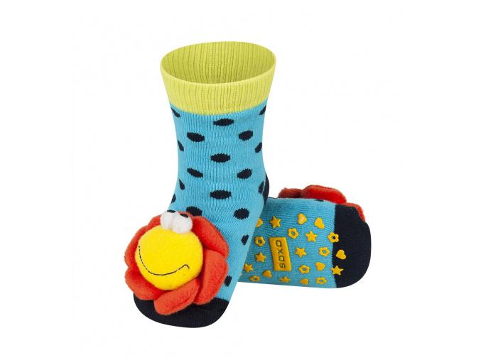 Ponožky s chrastítkem KYTIČKA