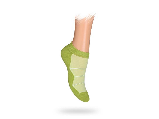 Dětské kotníkové ponožky PROUŽKY zelené