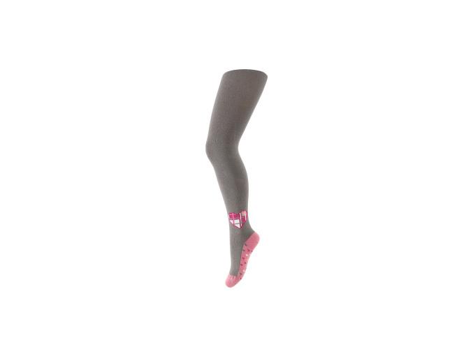 Dívčí punčocháče WOLA se vzorem SRDCE šedé