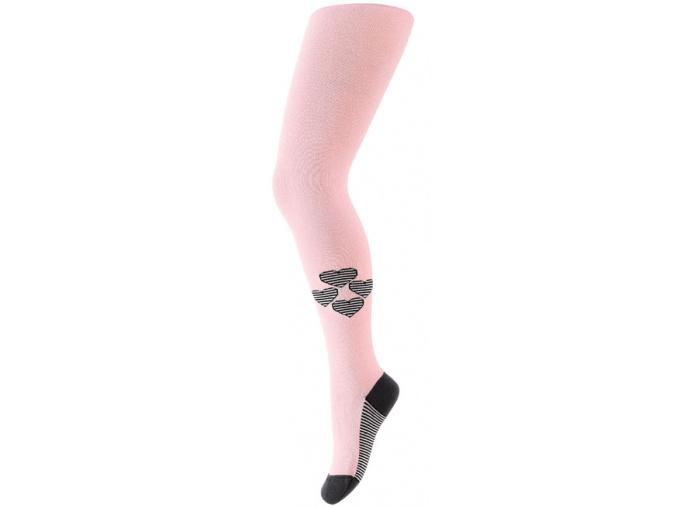 Dívčí punčocháče GATTA se vzorem SRDÍČKA světle růžové