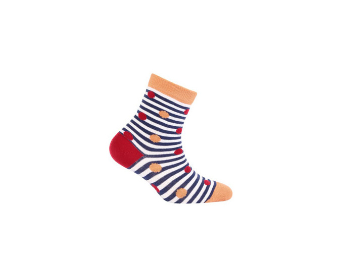 Dívčí vzorované ponožky WOLA PUNTÍČKY