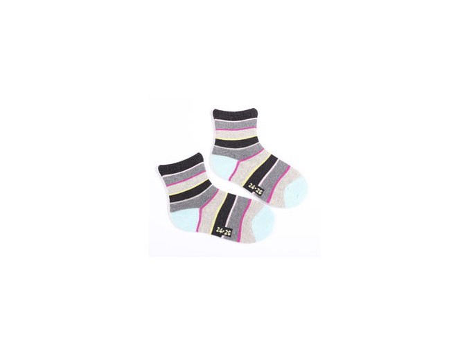 Dívčí ponožky se vzorem WOLA PRUHY
