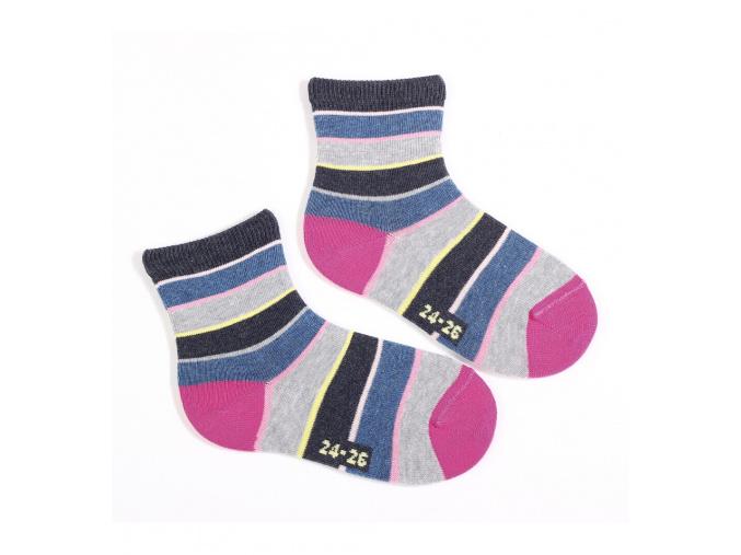 Dětské ponožky WOLA vzor PROUŽKY