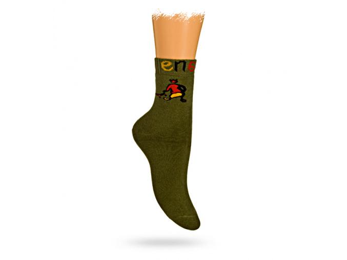 Dětské termo ponožky GATTA vzor ENERGY šedé