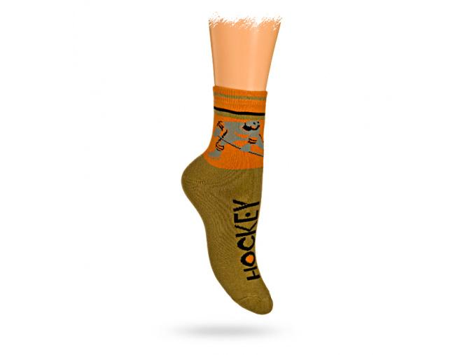 Dětské termo ponožky vzor HOKEJISTA