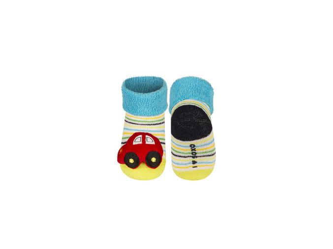 Ponožky s chrastítkem AUTÍČKO