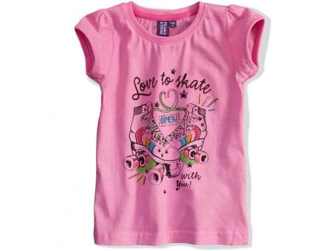 Dívčí tričko PEBBLESTONE Skate růžové