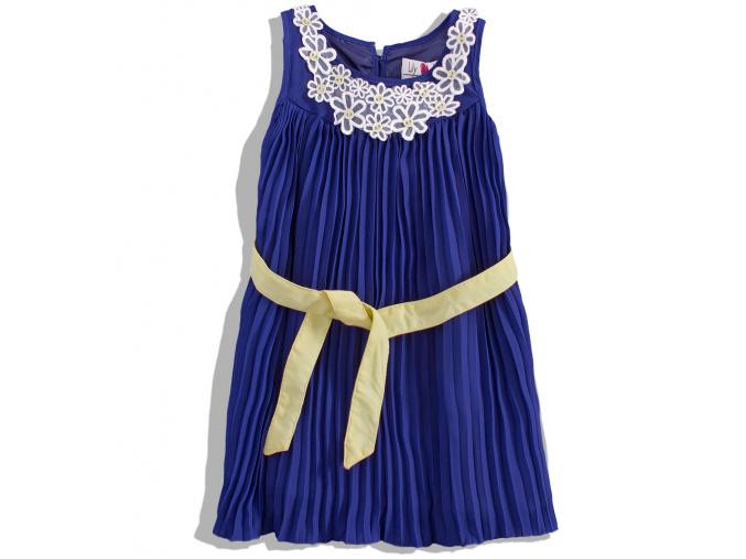 Dívčí plisované šaty Lily&Lola MINOTI lemon 4