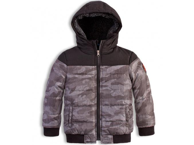 Chlapecká zimní bunda KNOT SO BAD POTISK šedá