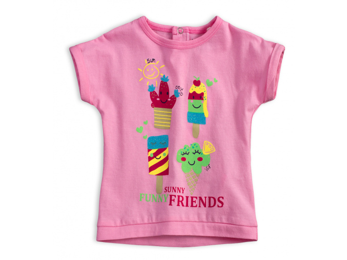 Dětské tričko KNOT SO BAD FUNNY SUNNY růžové