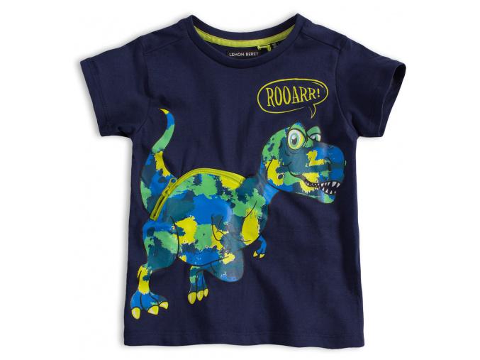 Chlapecké tričko LEMON BERET DINO tmavě modré