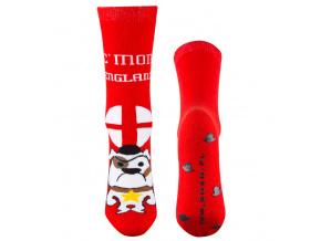 Froté ponožky SOXO PES červené