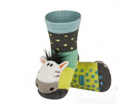 Ponožky s chrastítkem SOXO ZEBRA