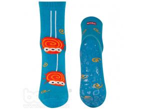 Froté ponožky s protiskluzem PAVOUČEK