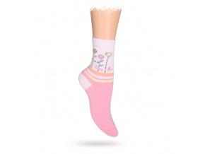 Dětské ponožky ABS vzor KYTIČKY