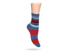 Dětské ponožky ABS vzor PRUHY červené