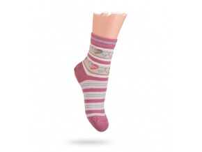 Ponožky WOLA vzor SRDÍČKA