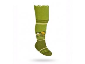 Punčocháče WOLA vzor NÁKLAĎÁK zelené
