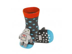 Ponožky s chrastítkem ROBOT