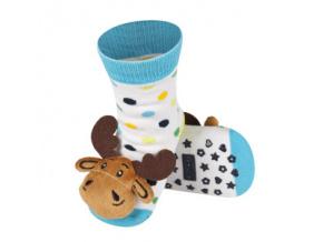 Ponožky s chrastítkem SOB bílé
