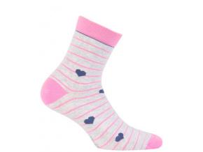 Dívčí vzorované ponožky WOLA SRDÍČKA