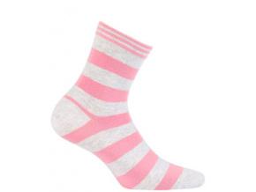 Dívčí vzorované ponožky WOLA PRUHY