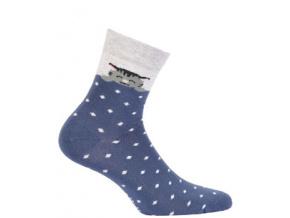 Dívčí vzorované ponožky WOLA TEČKY KOČIČKA