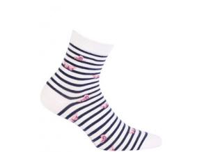 Dívčí vzorované ponožky WOLA MOTÝLCI