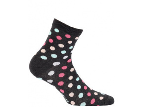 Dívčí ponožky se vzorem WOLA PUNTÍKY