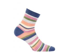 Dívčí vzorované ponožky WOLA PROUŽKY