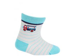 Vzorované kojenecké ponožky WOLA NÁKLAĎÁK