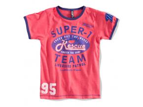 Chlapecké tričko SUPER TEAM červené coral
