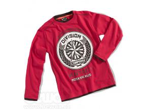 Chlapecké triko dlouhý rukáv DIVISION červené