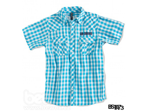 Chlapecká košile s krátkým rukávem BOYSTAR tyrkysová