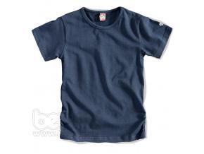 Dívčí jednobarevné tričko tmavě modré