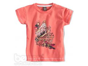 Dívčí tričko s krátkým rukávem MOTÝL oranžové