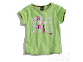 Dívčí tričko GIRLSTAR zelené