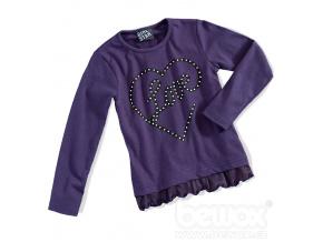 Dívčí triko dlouhý rukáv GIRLSTAR fialové