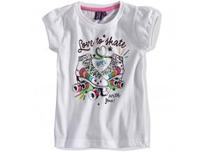 Dívčí tričko PEBBLESTONE Skate bílé
