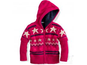 Dívčí termo svetr s kožíškem DIRKJE růžový