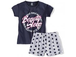 Dívčí letní pyžamo Dirkje BEAUTY SLEEP tmavě modré