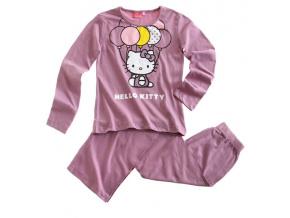 Dětské pyžamo HELLO KITTY BALONKY fialové