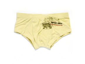 Chlapecké boxerky KEY TROPICAL FOREST krémové