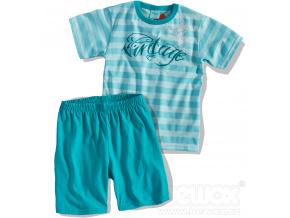 Chlapecké pyžamo Kyly VINTAGE tyrkysové