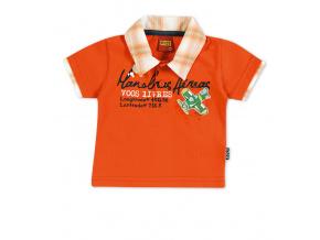 Tričko s límečkem KYLY oranžové