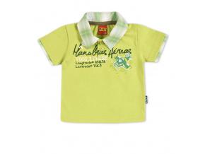 Dětské tričko s límečkem KYLY světle zelené