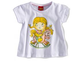 Dívčí tričko PANENKA KYLY bílé